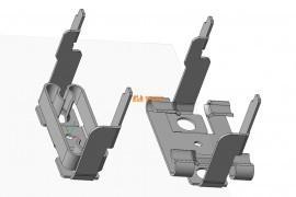 本发明端子的弹片角度成型制法于弹片第二折弯成型